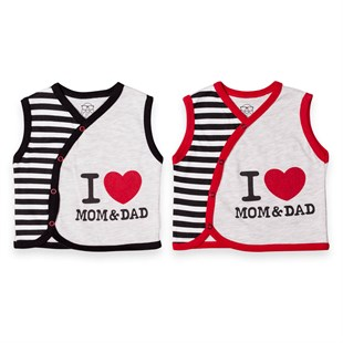 I Love Mom & Dad Oval Yelek Baby CoolBaby Cool